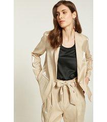 motivi blazer effetto shiny donna beige