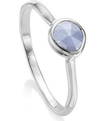sterling silver siren small stacking ring blue lace agate