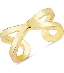chloe & madison women's 14k yellow gold vermeil single ear cuff