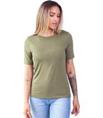 t-shirt modal gola careca magnolia avocado - feminino