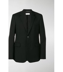 saint laurent fitted single-breasted blazer
