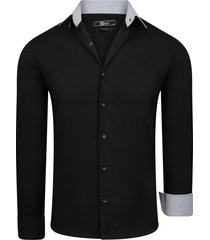 kc denim valerio heren overhemd zwart