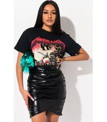 akira sun goes down pleather mini skirt