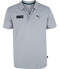 camisa polo puma mercedes benz 596183 - masculina - cinza