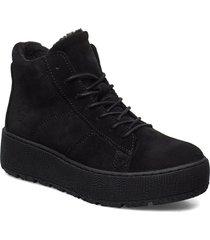woms boots shoes boots ankle boots ankle boots flat heel svart tamaris