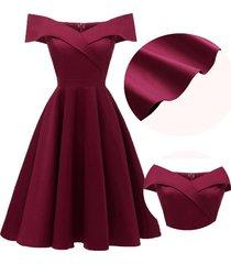vestido de cóctel formal vendimia del partido de oscilación vestido-rojo