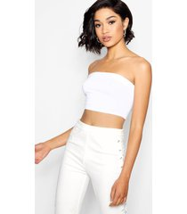 tall jersey bandeau top, wit