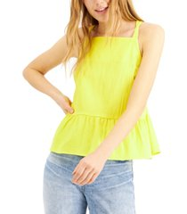 inc international concepts earth tie-back peplum camisole, created for macy's