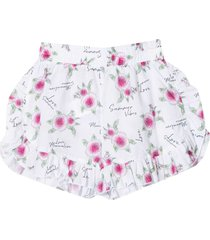 monnalisa white shorts with multicolor print