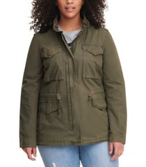 levi's trendy plus size cotton utility jacket