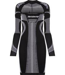 misbhv sport active fitted mini dress - black