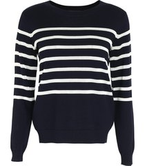 a.p.c. cordelia striped crew-neck pullover