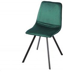 krzesło do jadalni haga szamaragdowe aksamit 83cm