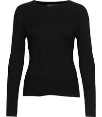 onlnatalia l/s rib pullover knt noos stickad tröja svart only