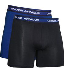 "under armour boxershorts 6"" ua mesh 2-pak blauw/zwart"