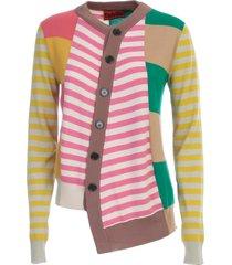 colville twisted cardigan multi stripes