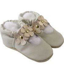 pantufa catz calçados infantil couro feminina - feminino