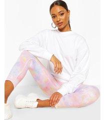 pastel tie dye leggings, peach