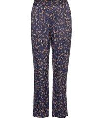 hill pantalon met rechte pijpen blauw munthe