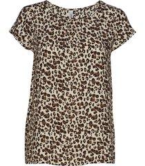 sc-adisa blouses short-sleeved brun soyaconcept