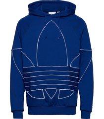 bg tf out hoody hoodie trui blauw adidas originals