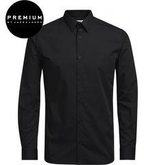 jack & jones premium heren overhemd non iron twill kent slim fit zwart