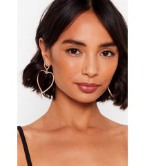 womens bless your heart oversized drop earrings - gold