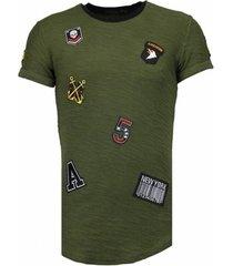 t-shirt korte mouw john military patches - t-shirt -