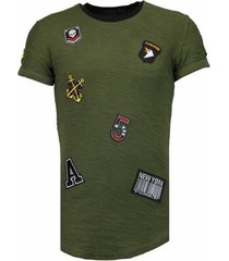 t-shirt korte mouw justing military patches