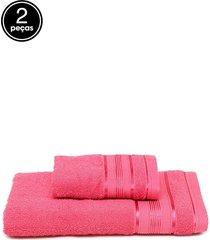 jogo de banho 2pçs santista knut rosa