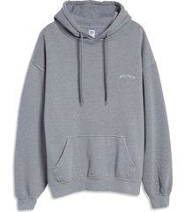 women's bdg urban outfitters longline hoodie, size large - blue