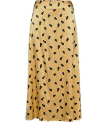 lutillegz skirt hs20 knälång kjol gul gestuz