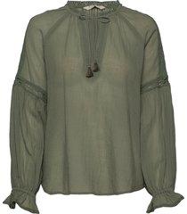 way to go blouse blouse lange mouwen groen odd molly