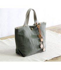 borsa per il tempo libero vintage in cotone e lino da donna borsa
