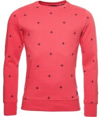 superdry men's all over embroidery loopback crew sweatshirt