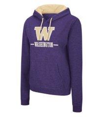 colosseum washington huskies women's genius hooded sweatshirt