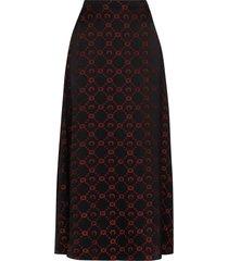 marine serre moon print wrap skirt - black