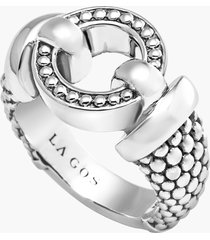 lagos 'enso' caviar(tm) ring, size 7 in silver at nordstrom