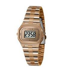 relógio digital lince unissex - sdr4609l bxrx rosê