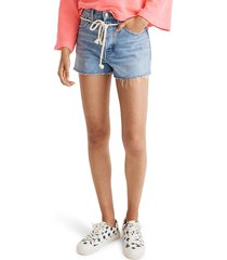 women's madewell relaxed rope belt denim shorts