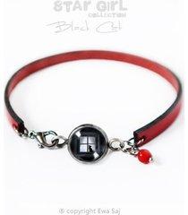 black cat - bransoletka przyjaźni - simple