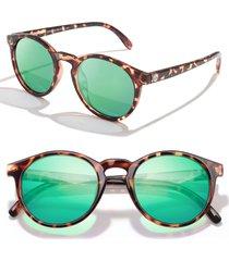 sunski dipsea 48mm polarized sunglasses - tortoise emerald