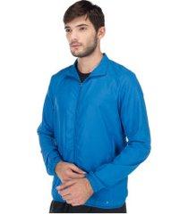jaqueta corta-vento oxer - masculina - azul