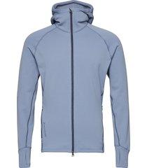 m's power houdi trueblack/trueblack s hoodie trui blauw houdini
