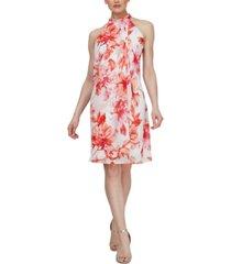 sl fashions mock-neck a-line dress
