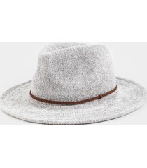 marci basic band panama hat - gray