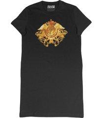 versace jeans couture logo print t-shirt dress