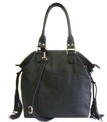 bolsa poquet bolsas em sintético preta