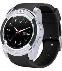 v8 la moda ronda inteligente pantalla el reloj multifunción podómetro