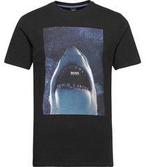 tnoah 1 t-shirts short-sleeved svart boss